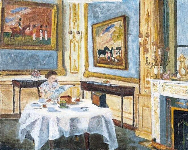 The Queen at Breakfast, Windsor Castle, 1965, Sandringham