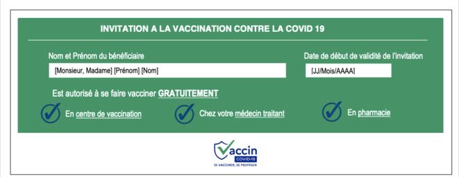 Le coupon de vaccination adressé aux précaires. © CPAM 93