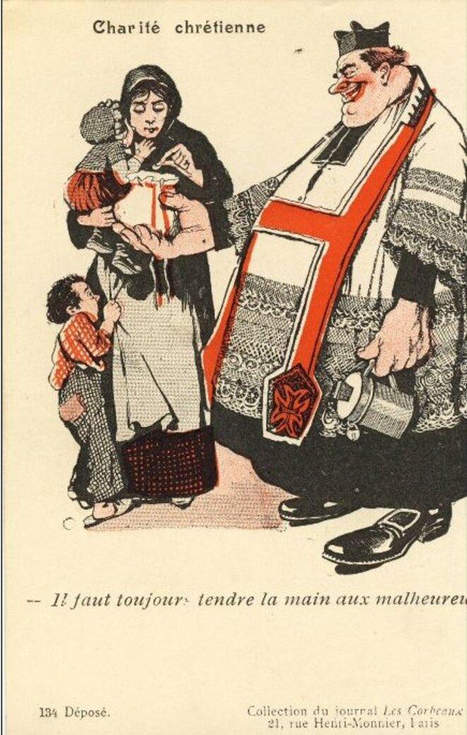 """Le journal libre penseur """"Les Corbeaux"""", fondé en Belgique, est paru de 1905 à 1909."""