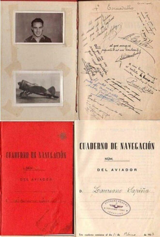 Montage d'après le fond de l'Université d'Alicante sur les pilotes de l'Espagne républicaine