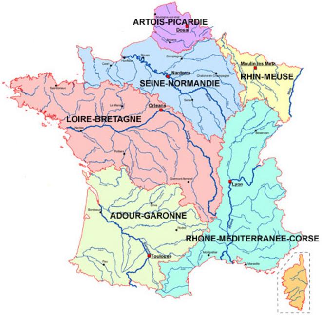 Une géographie de la France par les bassins-versants qui ne serait pas absurde.
