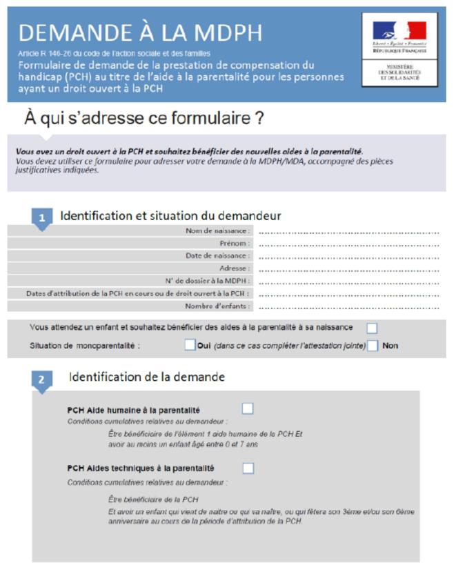 CERFA PCH parentalité © JO 17/4/2021
