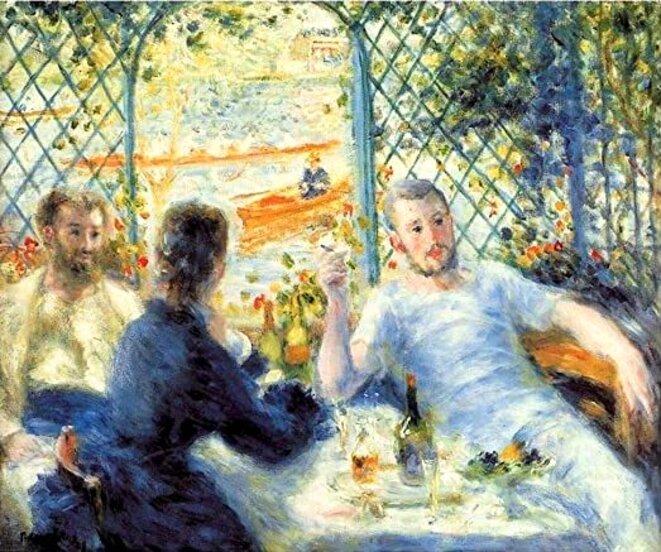 Renoir, Le déjeuner au bord de la rivière.