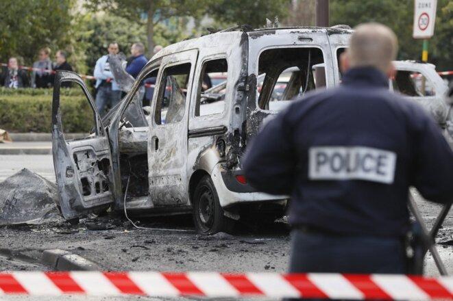 À Viry-Châtillon, le 8 octobre 2016. © Thomas Samson / AFP