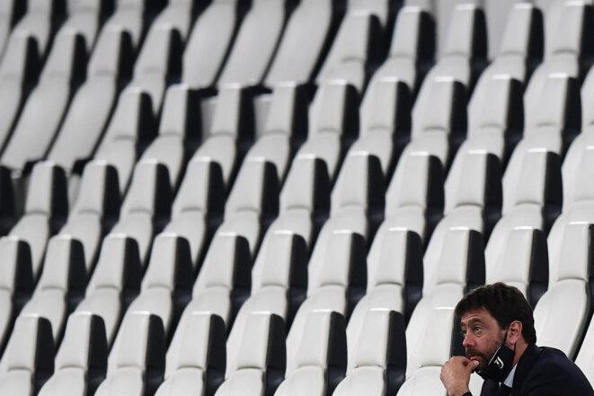 Andrea Agnelli, le président de la Juventus de Turin, le 12 juin 2020. © Miguel Medina/AFP