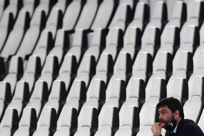 Andrea Agnelli, presidente de la Juventus de Turín, el 12 de junio de 2020. © Miguel Medina/AFP