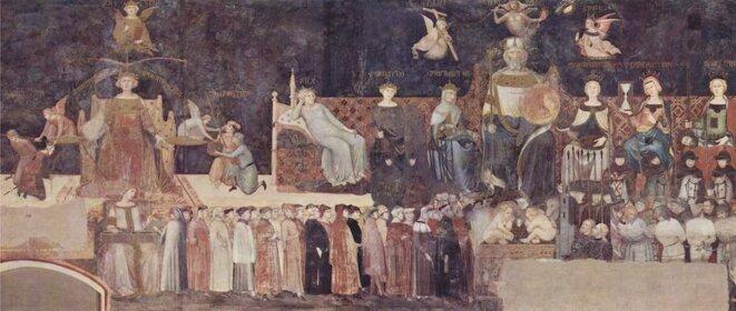 « L'allégorie et les effets du bon et du mauvais gouvernement » par Ambrogio Lorenzetti (1338-1339).