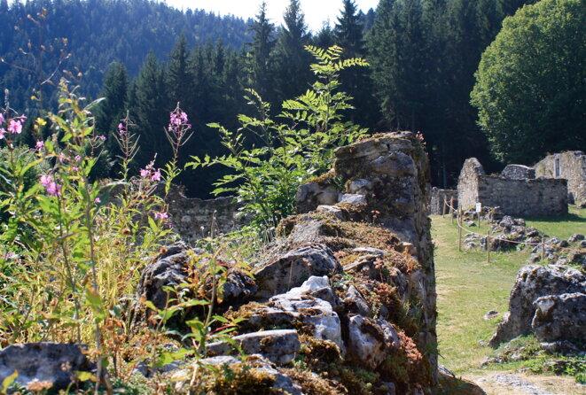 Ruines de Valchevrière dans le Vercors © Patrice Morel