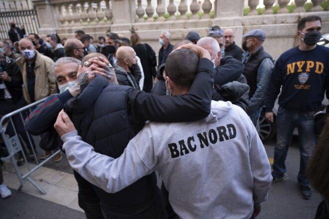 A Marseille, jeudi 22 avril. © Christophe Simon/AFP.