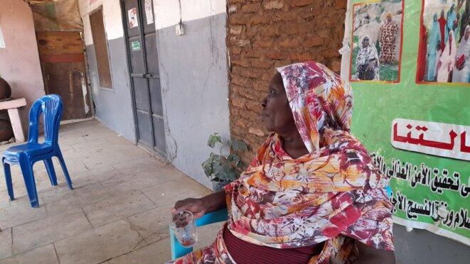 Mary James, engagée dans le SPLM (Mouvement de libération des peuples du Soudan) depuis 1984. © Gwenaëlle Lenoir