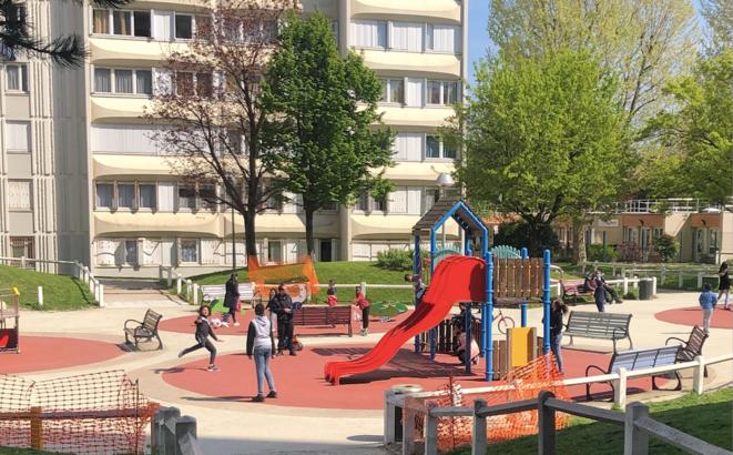 À Bobigny, dans le quartier du Chemin-Vert, en avril. © FZ
