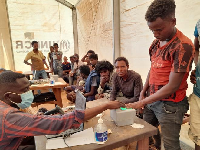 Enregistrement des réfugiés à Oum Rakuba. © GL