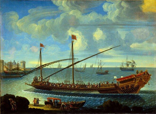 La Réale rentrant au port.