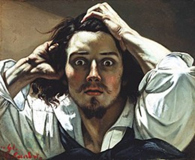 Le Désespéré, Gustave Courbet