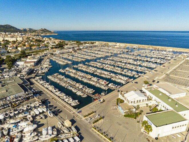 Le port de la Pointe-Rouge, à Marseille. © BUGRAT Davit / Hemis via AFP