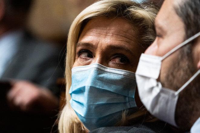 Marine Le Pen in March 2021. © Xose Bouzas / Hans Lucas via AFP