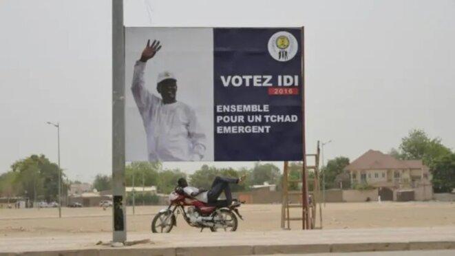 Affiche de campagne du candidat Idriss Déby