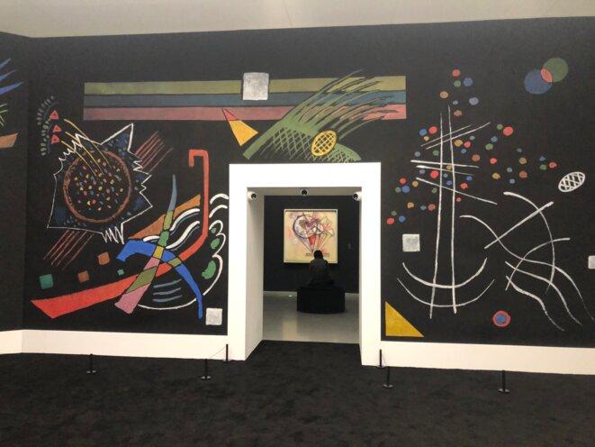 Le salon de musique de Wassily Kandinsky. Une expo du Pompidou Shanghai © Margo Renisio