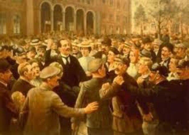 1er mai 1916. manifestation avec Rosa Luxemburg