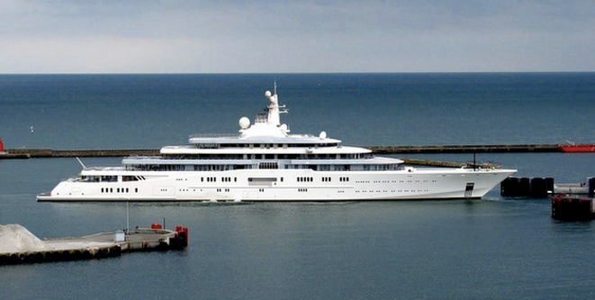 Le yacht Eclipse appartenant à Roman Abramovitch. © Keld Gydum Wikipédia