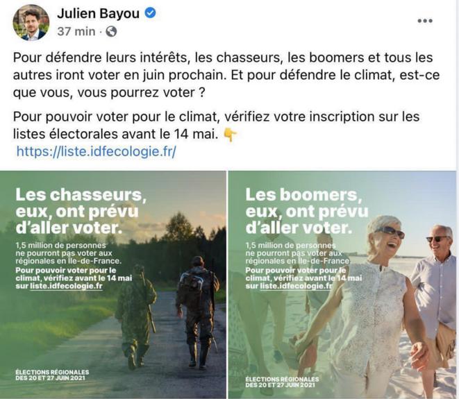 Compte Twitter de Julien Bayou © Capture d'écran