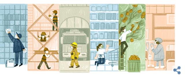 La fête du travail façon Google © google