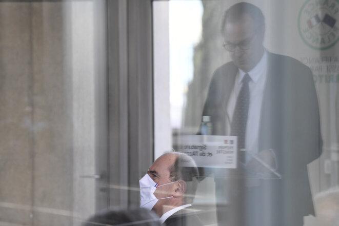Jean Castex et Renaud Muselier à Toulon (Var), le 5 janvier. © Nicolas Tucat/Pool/AFP