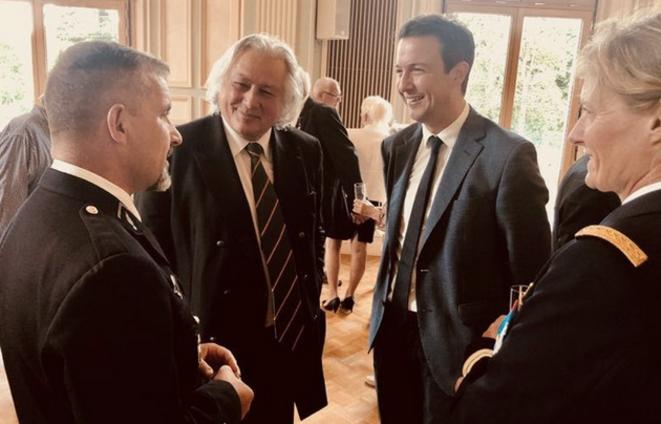 J. Lorgeoux, le maire de Romorantin, aux côtés de G. Peltier, député LR. © Twitter de G. Peltier