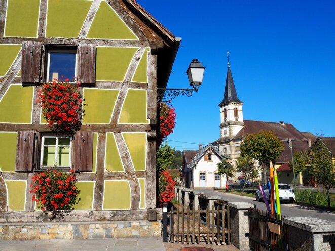 Un village du Sundgau (Haute-Alsace)