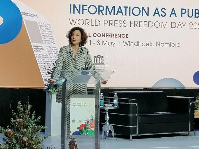 Mme Audrey Azoulay, Directrice générale de l'UNESCO – Journée mondiale de la liberté de la presse, 3 mai 2021