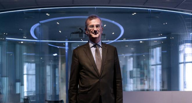 François Villeroy de Galhau, gouverneur de la Banque de France en 2019. © Bruno Coutier / AFP