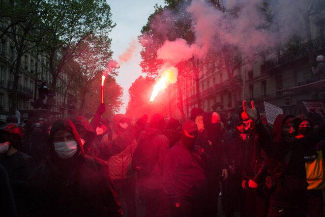 Manifestation du 1er mai 2021, Paris. © Samuel Clauzier