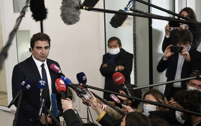 Christian Jacob à la sortie du conseil stratégique de LR, le 4 mai 2021. © Stéphane de Sakutin / AFP