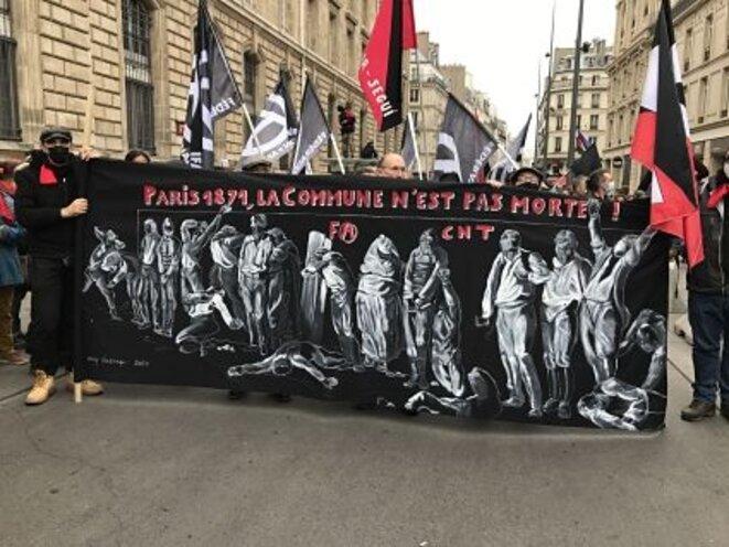 Banderole du Défilé du premier Libertaire 2021