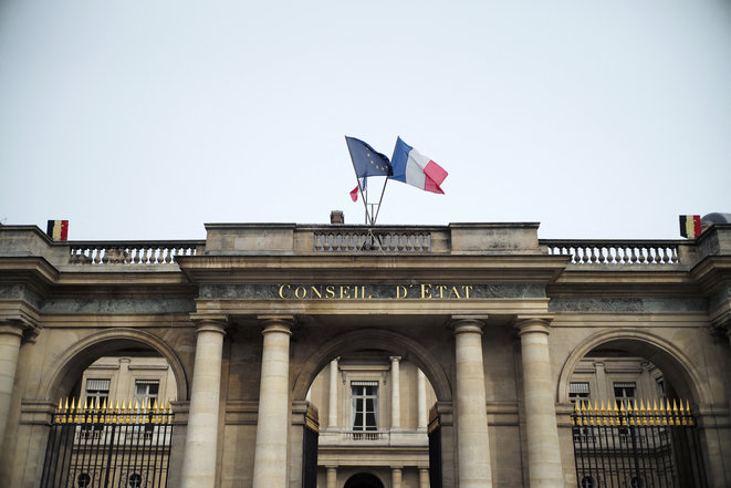 Le conseil d'État à Paris © Lou Ösra / Hans Lucas via AFP