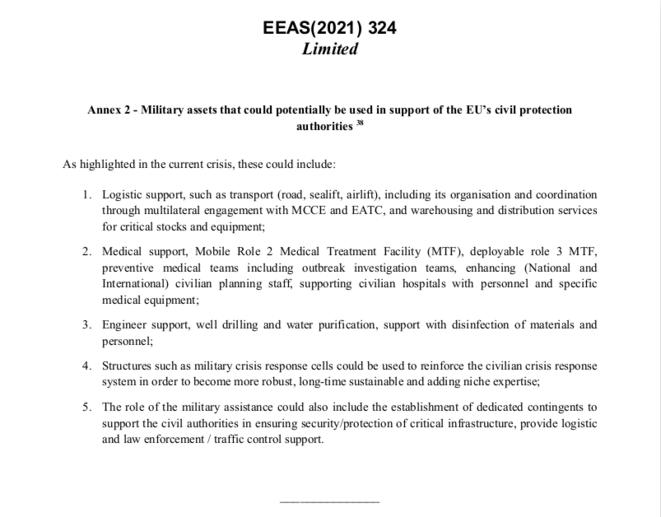 Capture d'écran de l'annexe 2, en dernière page du document