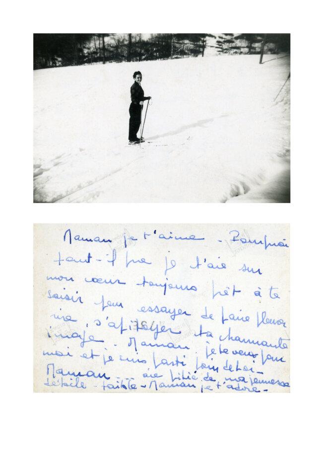 Jeune femme et son adresse à sa maman, conservatoire national de l'album de famille, Metz © La Conserverie