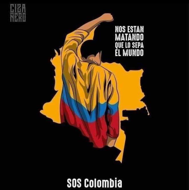SOS Colombía : ILS SONT EN TRAIN DE NOUS TUER ! IL FAUT QUE LE MONDE SACHE ! © https://www.facebook.com/milaymusica1/photos/a.114618540148431/296471455296471/?type=3&is_lookaside=1