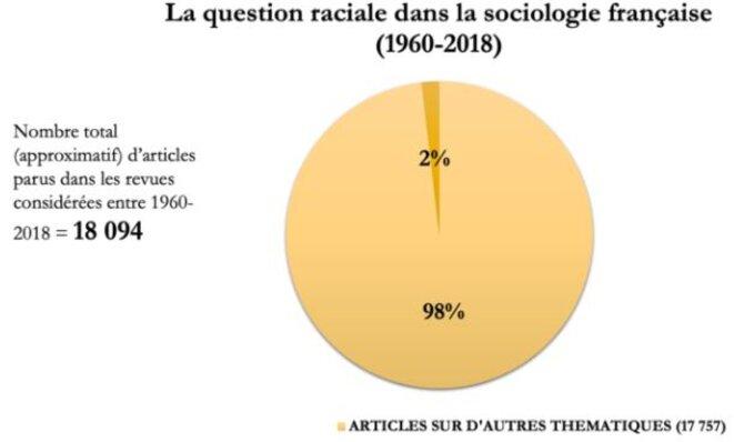 """Extrait de l'article rédigé par Lucie Delaporte pour Mediapart : """"En France, les recherches sur la question raciale restent marginales""""."""