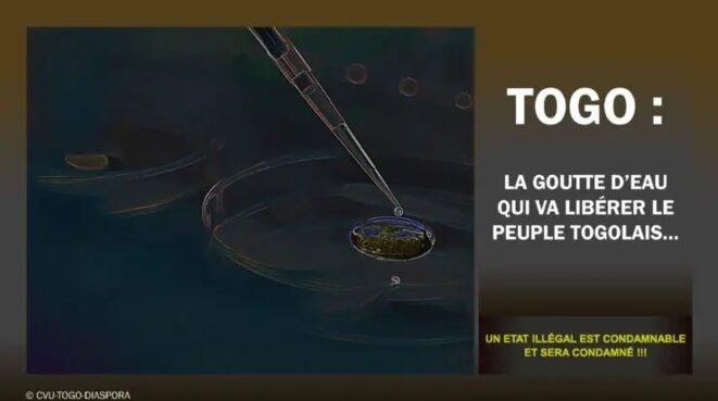 La goutte d'eau qui va libérer le peuple togolais