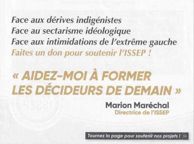 Extrait du courrier de Marion Maréchal daté du 16 avril. © Capture d'écran