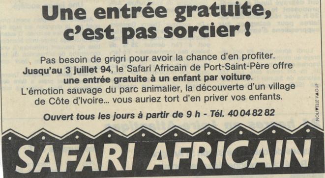 Annonce diffusée dans le quotidien «Ouest France» en juin 1994. © DR