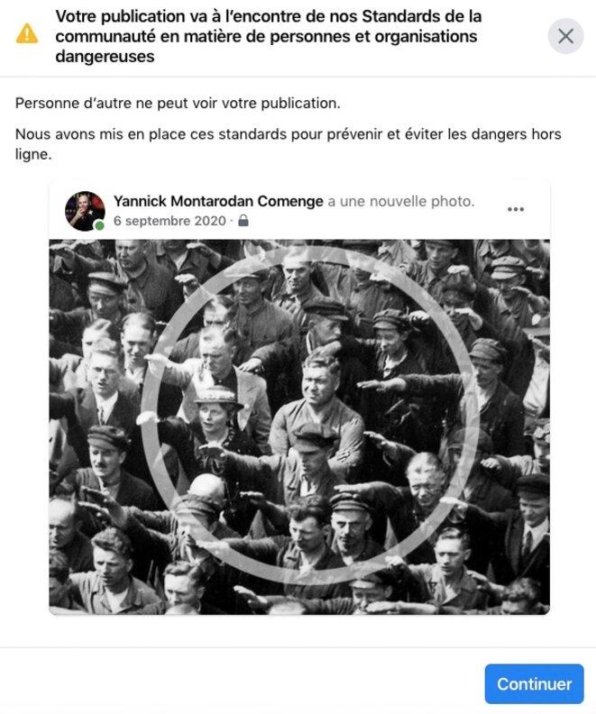 Censurée par Facebook