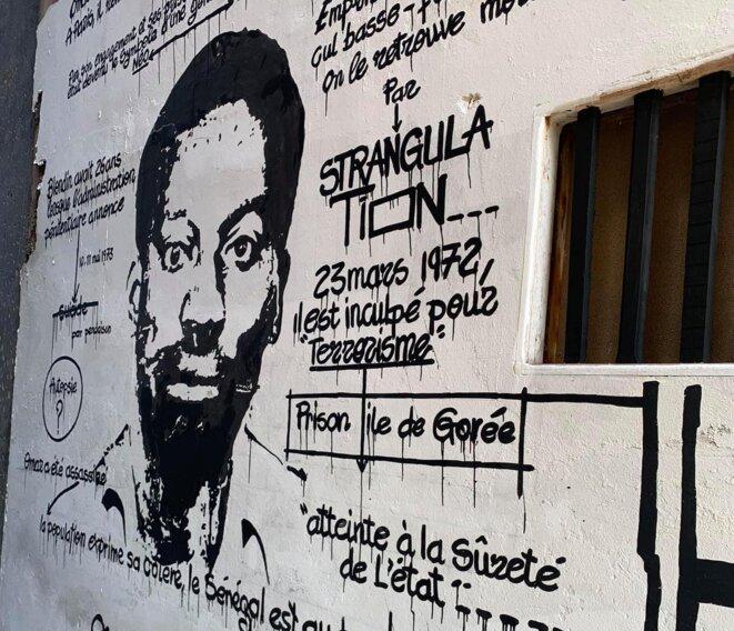 Fresque hommage au Laboratoire Agit'Art à Keur Yadikone, Ngor (décembre 2019) © Mbaye Diop