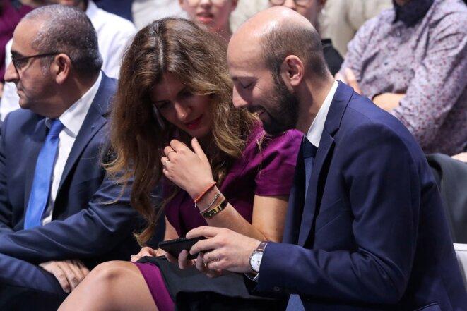 Marlène Schiappa et Stanislas Guerini, en octobre 2019. © Jacques Demarthon/AFP