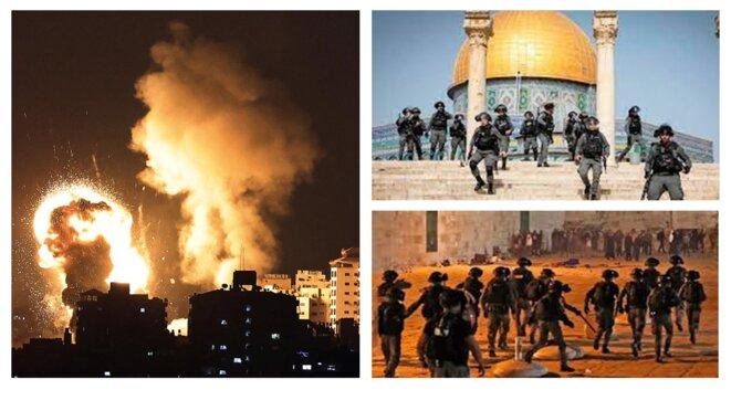 Fin de ramadan marqué par l'agression de la mosquée El Aqsa par les forces d'occupations terroristes sionistes © RISSALA