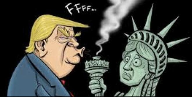 """© Dans C. García, """"Trump: bientôt chassé par la liberté?"""""""