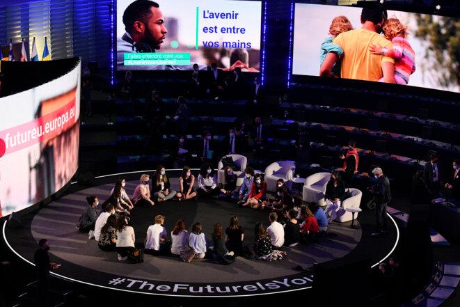 Conférence sur l'avenir de l'Europe - Événement inaugural Date de l'événement: 09/05/2021 © EP-114475A Photographe Christian CREUTZ droits d'auteur© Union européenne 2021 - Source: PE