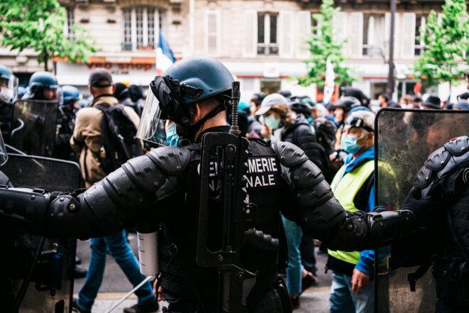 Manifestation du 1er mai à Paris. © Xose Bouzas / Hans Lucas via AFP