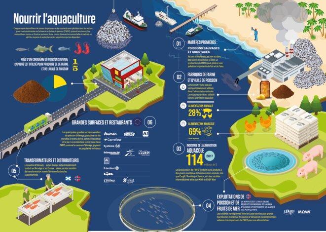 Infographie - Nourrir l'aquaculture © ©Changing Markets